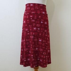 Lularoe Red Camera Azure XL Skirt